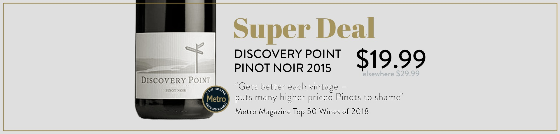 Discovery Point Pinot Noir 2015
